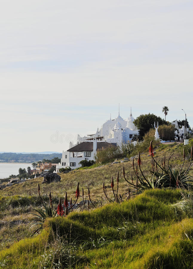 Casapueblo в Punta Ballena стоковые фотографии rf