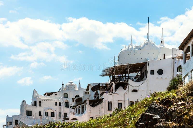 Casapueblo dichtbij Punta del Este in Atlantische Kust van Uruguay royalty-vrije stock afbeelding