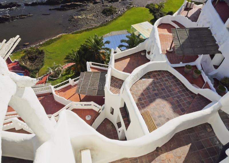 Casapueblo in Punta Ballena royalty-vrije stock foto's