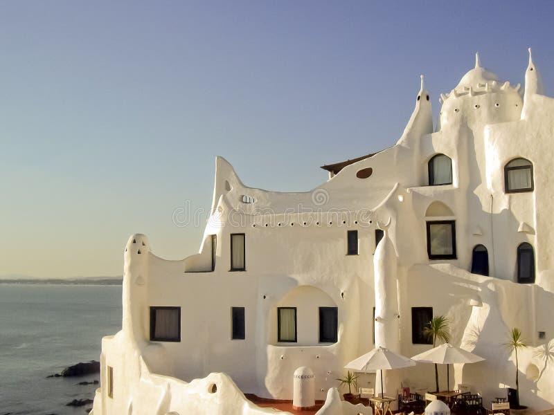 Casapueblohuis in Punta del Este royalty-vrije stock afbeelding