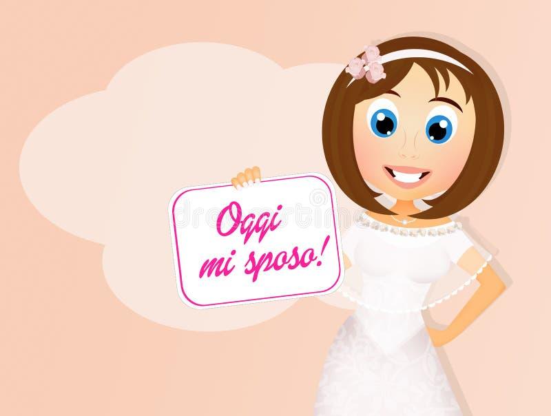 Casar-se da menina ilustração royalty free