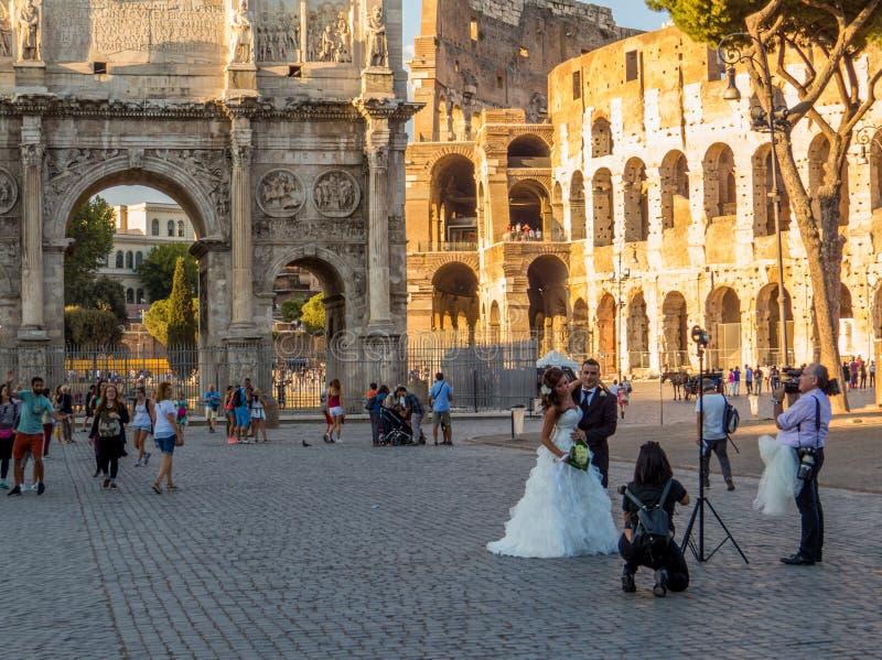 Casar-se em Roma fotos de stock