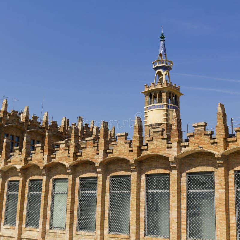 Casaramona-Fabrik, Barcelona, Spanien. lizenzfreie stockfotografie