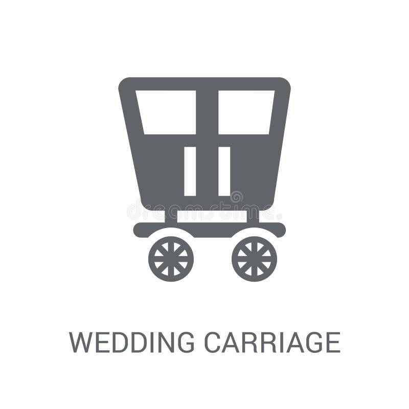casarse el icono del carro  ilustración del vector