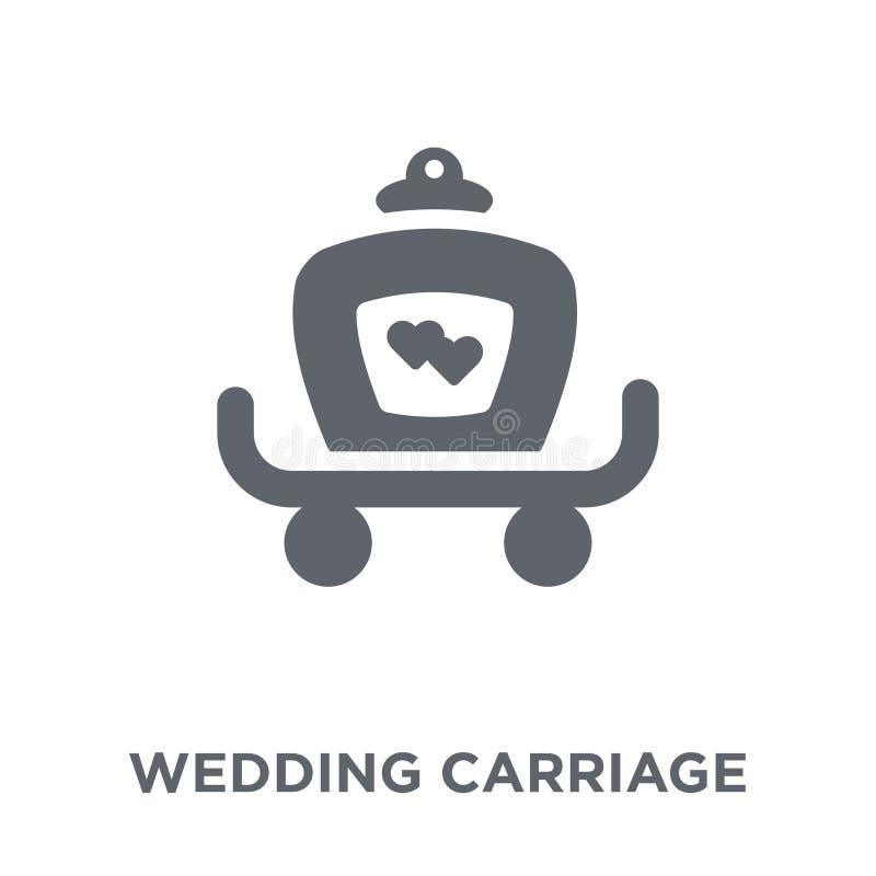 casarse el icono del carro de la colección de la boda y del amor stock de ilustración