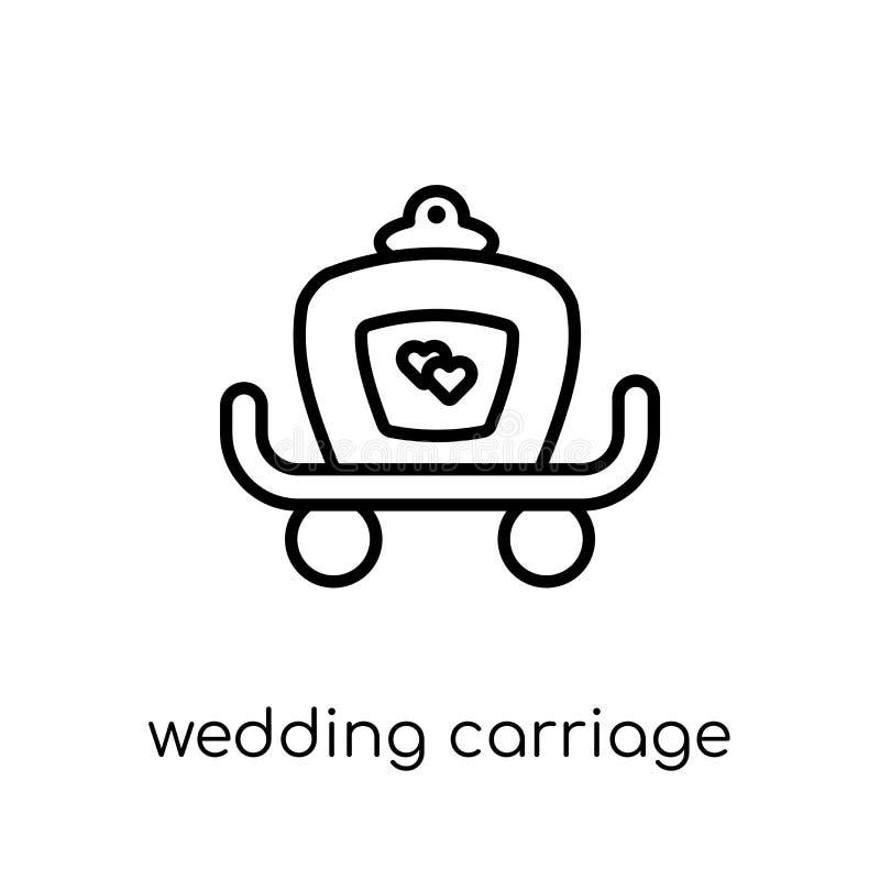 casarse el icono del carro de la colección de la boda y del amor libre illustration