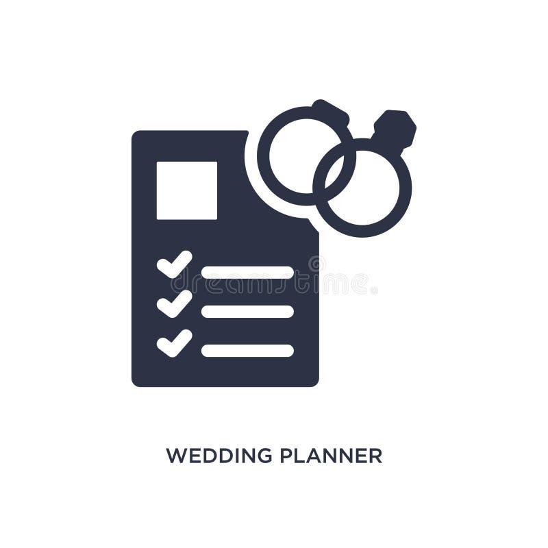 casarse el icono del planificador en el fondo blanco Ejemplo simple del elemento del concepto de la fiesta y de la boda de cumple stock de ilustración