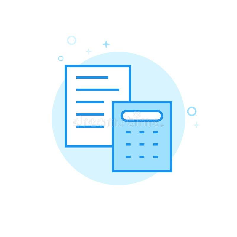 Casarse el icono plano del vector de la estimación, símbolo, pictograma, muestra Diseño monocromático azul claro Movimiento Edita ilustración del vector