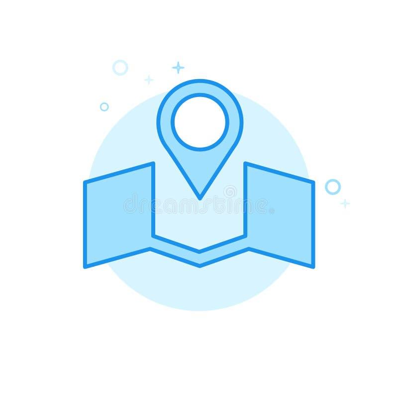 Casarse el icono plano del vector del lugar, símbolo, pictograma, muestra Diseño monocromático azul claro Movimiento Editable ilustración del vector