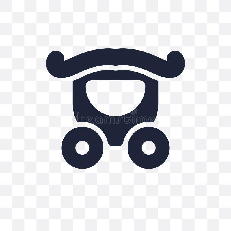 casarse el icono transparente del carro casarse el desig del símbolo del carro stock de ilustración