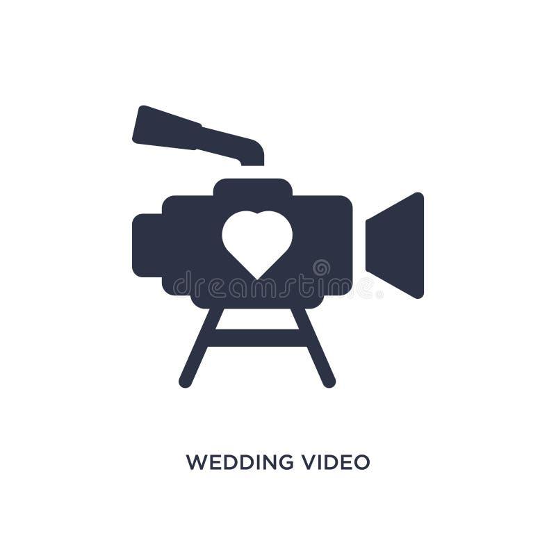 casarse el icono video en el fondo blanco Ejemplo simple del elemento del concepto de la fiesta y de la boda de cumpleaños ilustración del vector