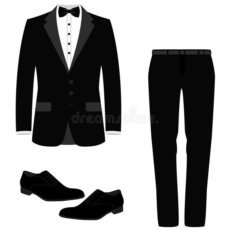 Casarse el traje para hombre con los zapatos libre illustration