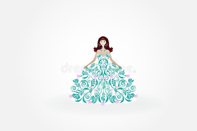 Casarse la invitación de la tarjeta de felicitación de la novia stock de ilustración