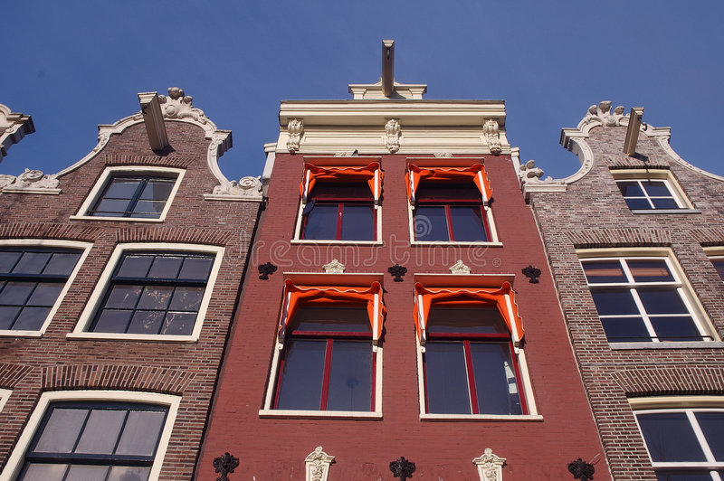 Casas 02 de Amsterdam foto de archivo