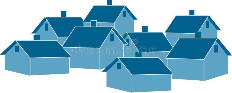 Casas ilustração do vetor