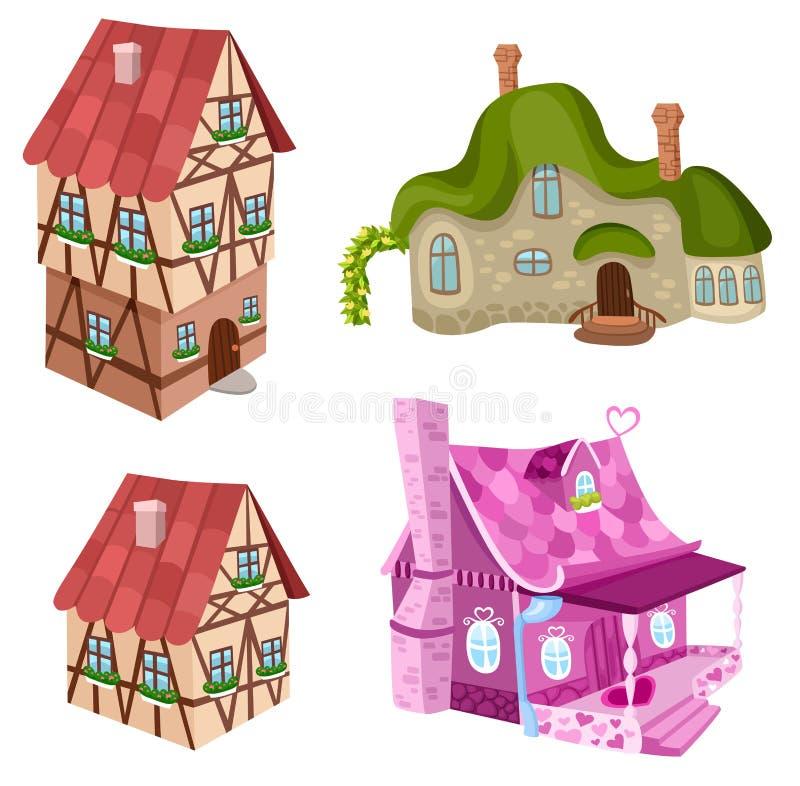 Casas ajustadas ilustração royalty free