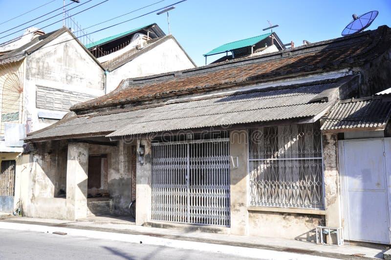 Casas antigas, casas típicas velhas fotografia de stock