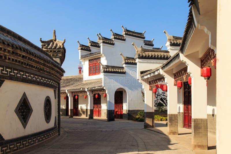 Casas antiguas del estilo chino imágenes de archivo libres de regalías