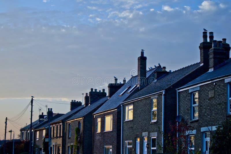 Casas azuis imagens de stock
