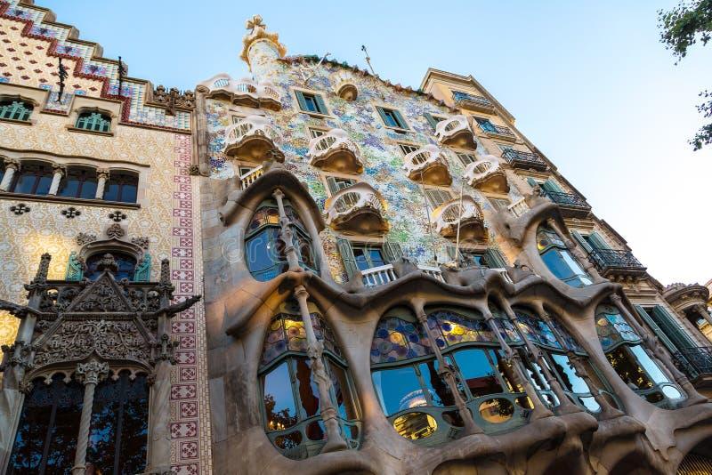 Casas Batlló em Barcelona imagens de stock