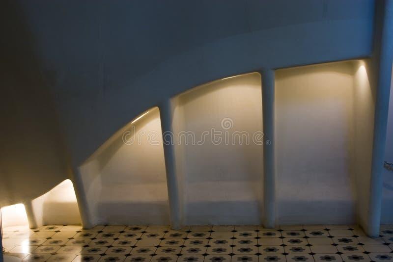 Casas Batllo - arcos do sótão fotos de stock royalty free