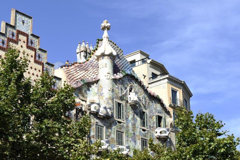 Casas Batllo, Barcelona Fotos de archivo libres de regalías