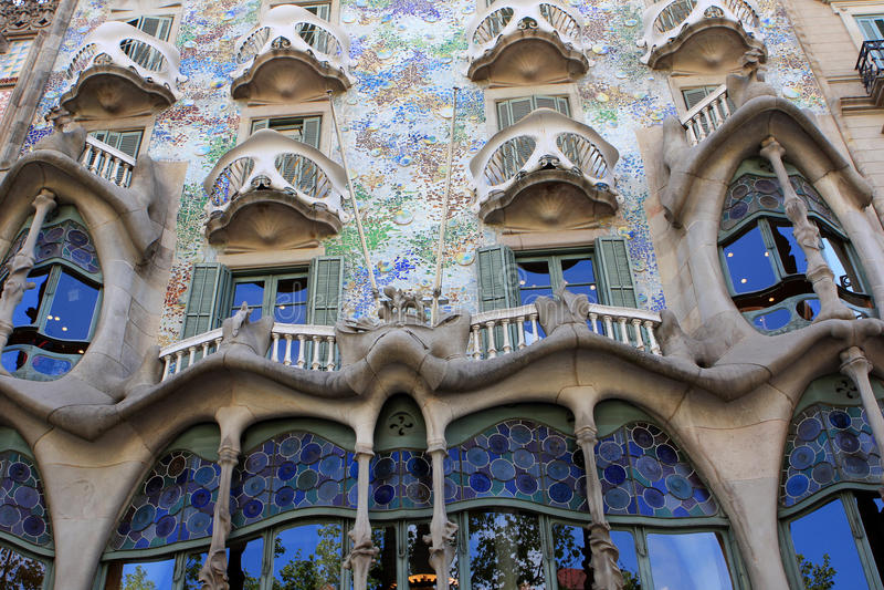 Casas Batllo, Barcelona imagen de archivo libre de regalías