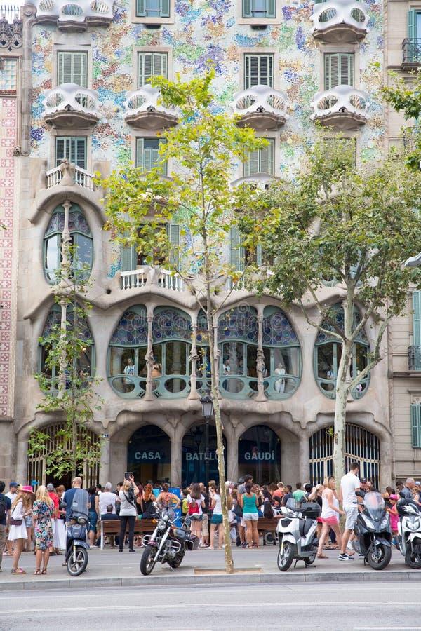 Casas Batllo Barcelona imagen de archivo libre de regalías