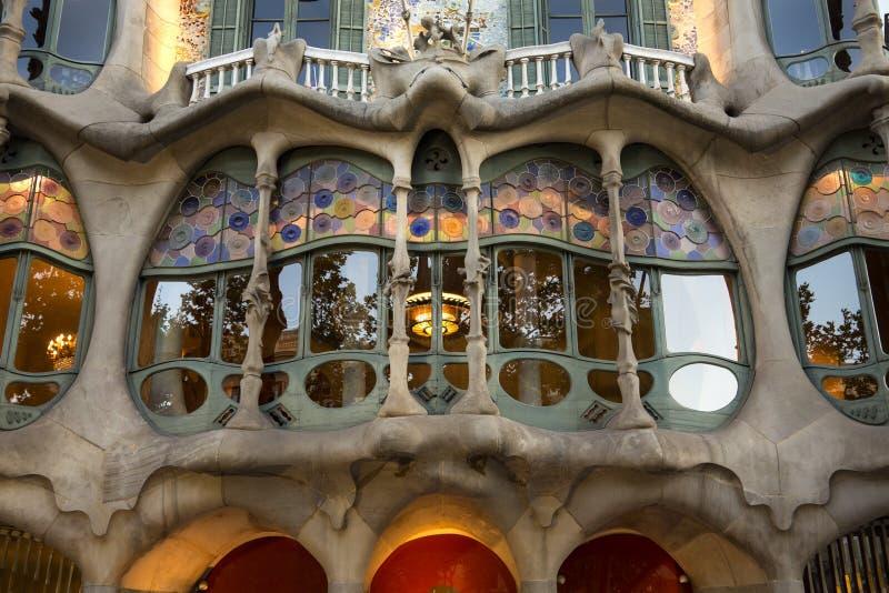 Casas Batllo - Barcelona - España fotos de archivo