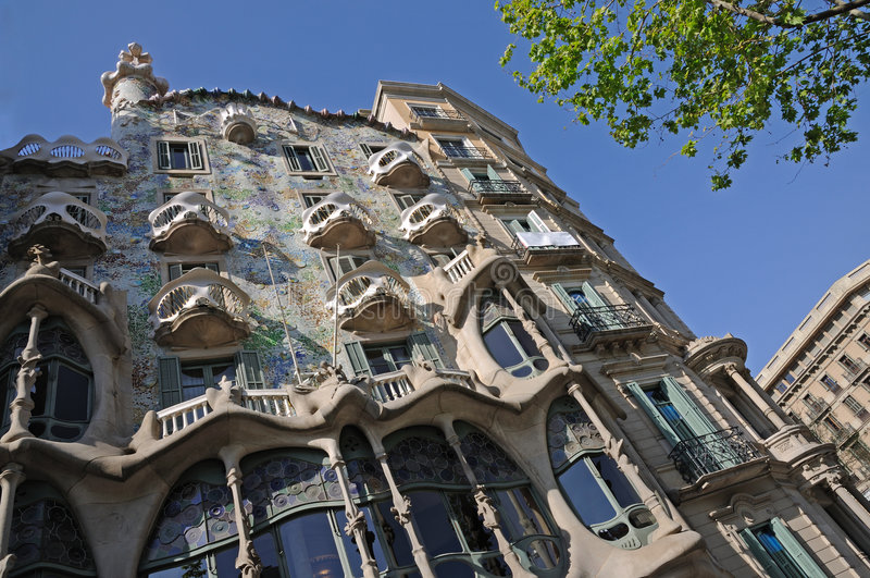 Casas Batllo em Barcelona, Spain imagens de stock royalty free