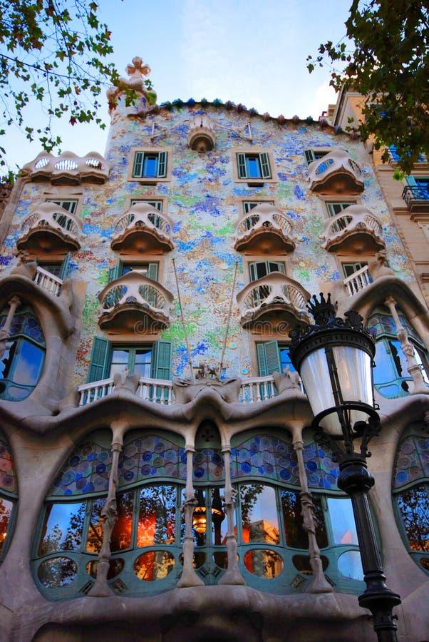 Casas Batllo en Barcelona imagen de archivo libre de regalías