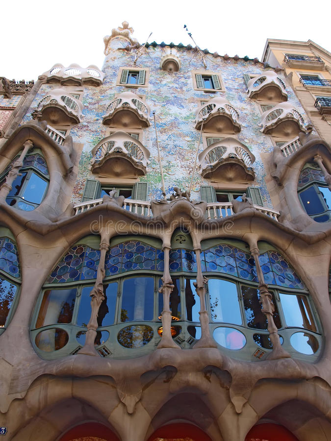 Casas Batllo en Barcelona imagenes de archivo
