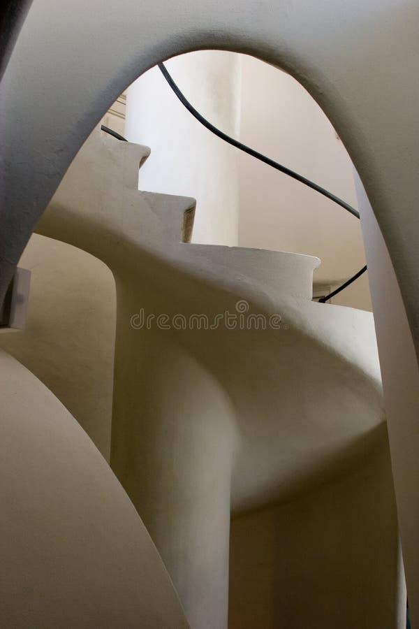 Casas Batllo - escadas fotografia de stock