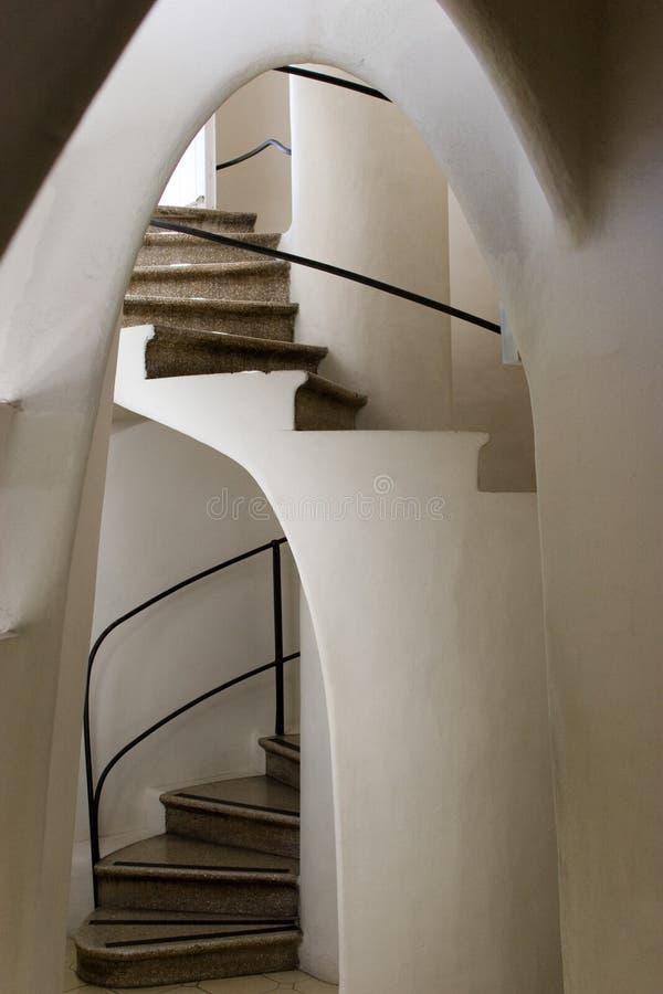 Casas Batllo - escaleras espirales foto de archivo libre de regalías