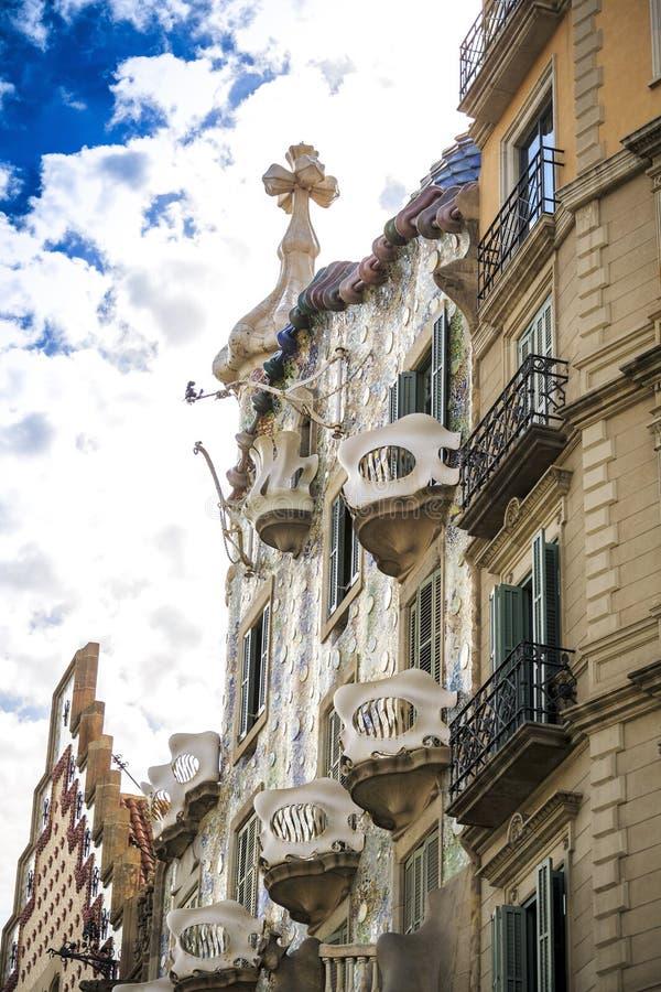 Casas Batllo por Antoni Gaudi em Barcelona, Spain imagem de stock royalty free
