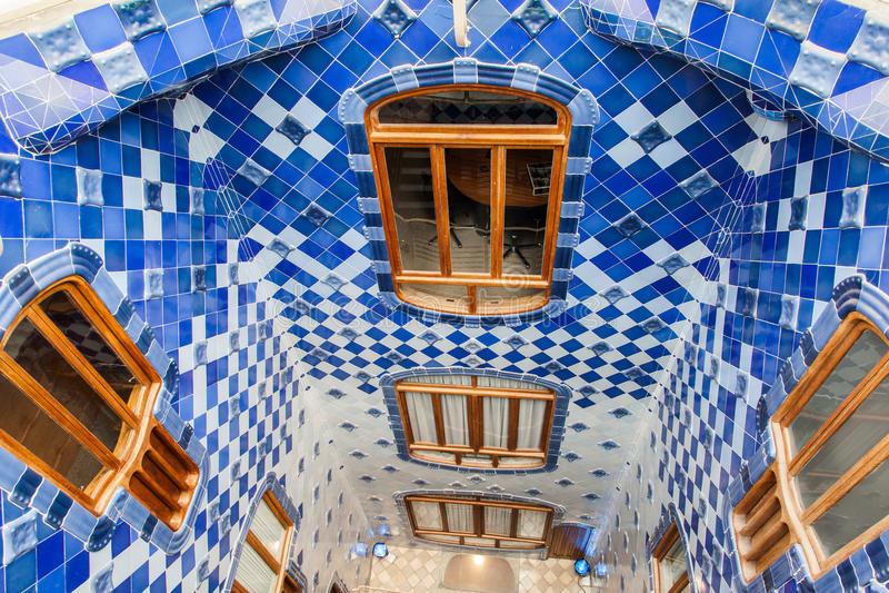 Casas Batlo Barcelona Spain foto de stock royalty free