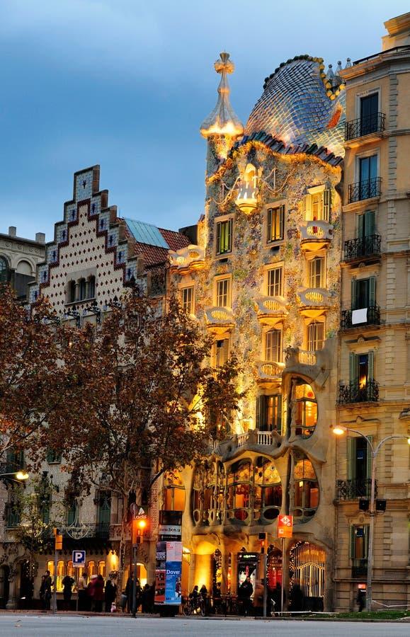 Casas Battlo, Barcelona imagens de stock