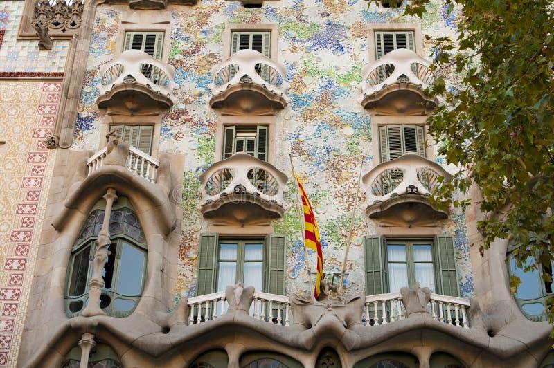 Casas Battlo, Barcelona foto de stock royalty free