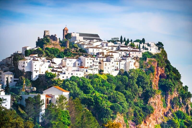 Casas blancas en Andalucía, España imagen de archivo libre de regalías