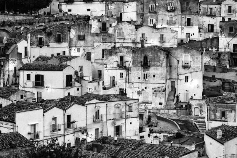 Casas brancas em Monte Sant & em x27; Angelo - Gargano - Puglia imagens de stock royalty free