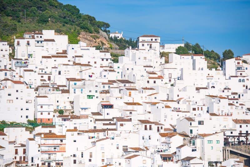 Casas brancas espanholas foto de stock