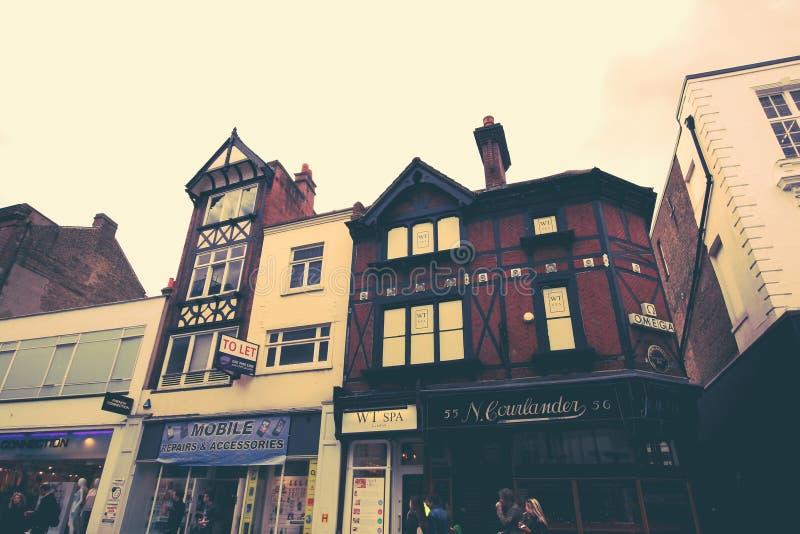 Casas británicas tradicionales en Richmond, cerca de Londres, Reino Unido fotografía de archivo libre de regalías