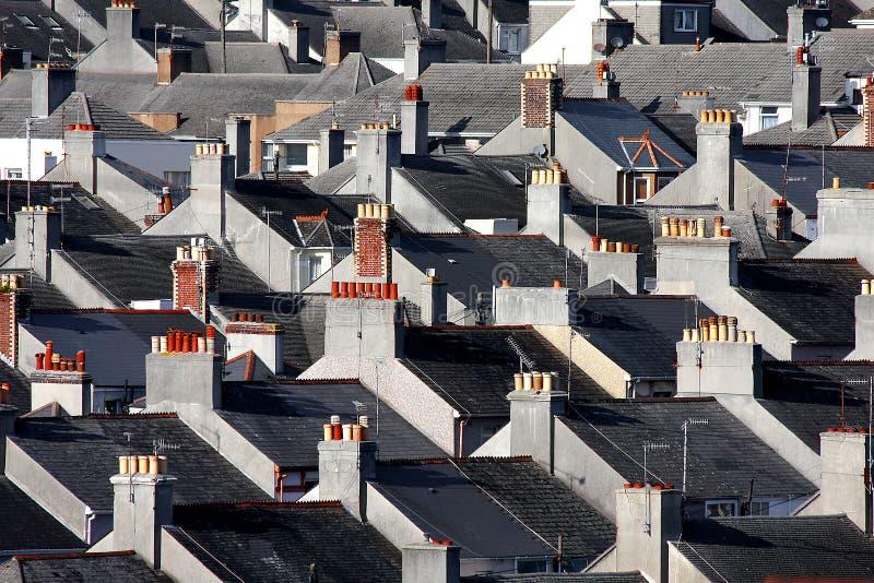 Casas britânicas tradicionais, Plymouth, Reino Unido fotos de stock
