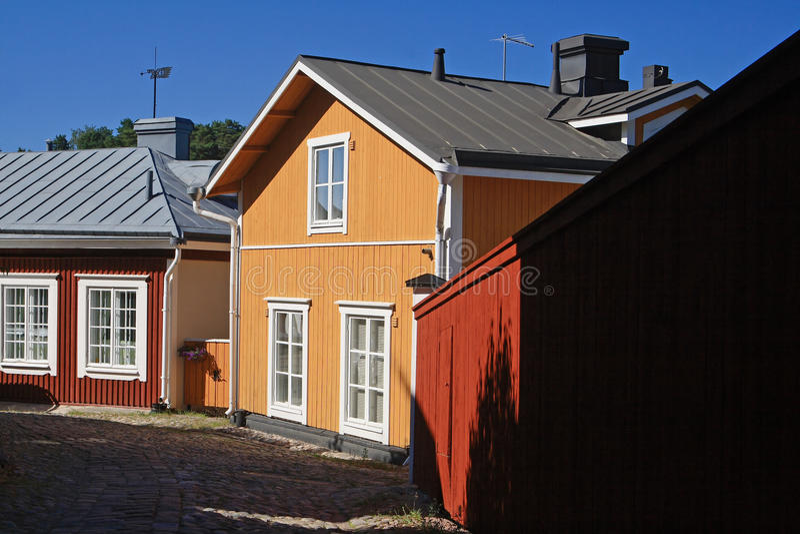 Casas clássicas do dinnish fotografia de stock