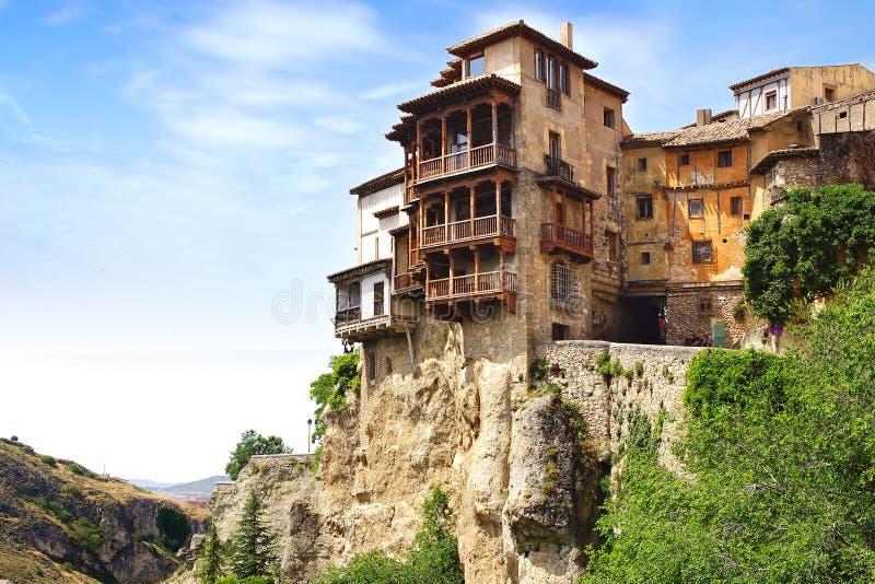 Casas Colgadas Cuenca, Spagna fotografie stock libere da diritti