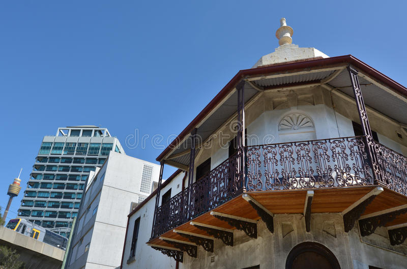 Casas colgantes victorianas en Sydney Australia fotografía de archivo