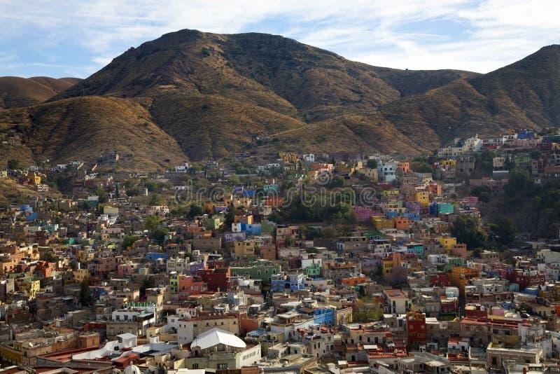Casas coloreadas Guanajuato México fotos de archivo