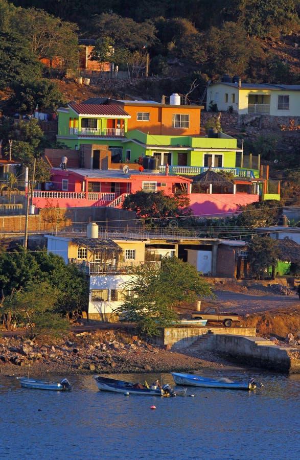 Casas coloridas fotografía de archivo libre de regalías