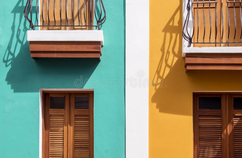 Casas coloridas fotos de stock royalty free