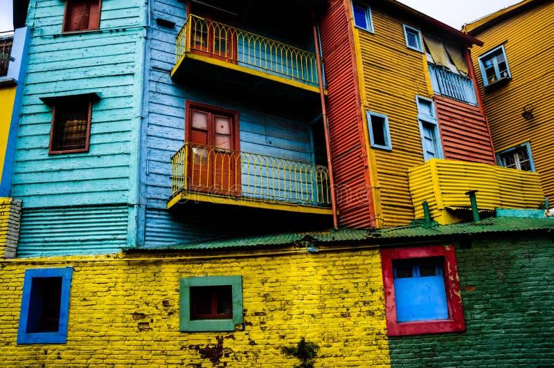 Casas coloridas imágenes de archivo libres de regalías